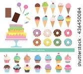 birthday party big set with... | Shutterstock .eps vector #436450084