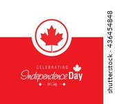 1st of july canada independence ... | Shutterstock .eps vector #436454848