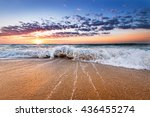 beautiful sunrise over the... | Shutterstock . vector #436455274