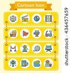 icon set movie vector | Shutterstock .eps vector #436457659