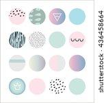 collection of vector circles...   Shutterstock .eps vector #436458664