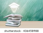 education concept graduation... | Shutterstock . vector #436458988