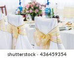 wedding chair with ribbon | Shutterstock . vector #436459354