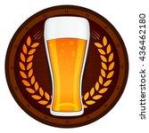 vector beer glass with barrel... | Shutterstock .eps vector #436462180