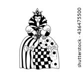 Queen Coloring Page Chess...