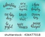 lettering photography family... | Shutterstock .eps vector #436477018