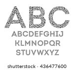 Alphabet From Musical Notes On...