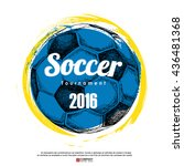 drawing of soccer background ... | Shutterstock .eps vector #436481368