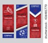 abstract flag colour banner for ... | Shutterstock .eps vector #436481770