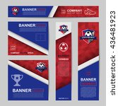 abstract flag colour banner for ... | Shutterstock .eps vector #436481923