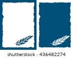 vintage postcard for scrapbook. ... | Shutterstock .eps vector #436482274
