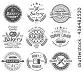 bakery and pastries set of... | Shutterstock .eps vector #436482520