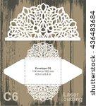 vector die cut envelope... | Shutterstock .eps vector #436483684