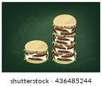 cuisine and food  illustration...   Shutterstock .eps vector #436485244