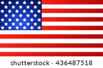 american flag for independence... | Shutterstock .eps vector #436487518