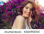 fashion outdoor photo of... | Shutterstock . vector #436490053