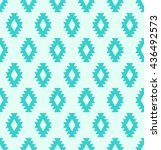 seamless aztec pattern with... | Shutterstock .eps vector #436492573