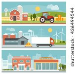 agriculture  industrial... | Shutterstock .eps vector #436494544