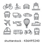 transport line icons | Shutterstock . vector #436495240