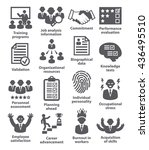 business management icons.  | Shutterstock . vector #436495510