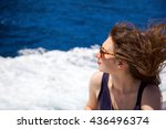 a beautiful attractive model... | Shutterstock . vector #436496374