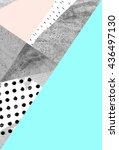 geometric art print  abstract... | Shutterstock . vector #436497130