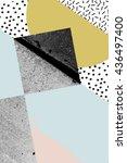 geometric art print  abstract... | Shutterstock . vector #436497400