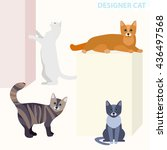 Design Cats In Different Poses...