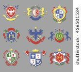 coat of arms collection ... | Shutterstock .eps vector #436501534