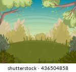 summer landscape. forest... | Shutterstock .eps vector #436504858