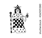 King Coloring Page Chess...