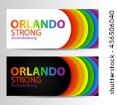 horizontal banners in lgbt...   Shutterstock .eps vector #436506040