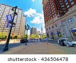 arch street in the city center...   Shutterstock . vector #436506478