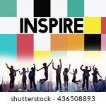 inspire inspiring inspiration...   Shutterstock . vector #436508893