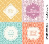 set of vintage frames in yellow ... | Shutterstock .eps vector #436510678