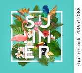 summer typographical background ... | Shutterstock .eps vector #436512088