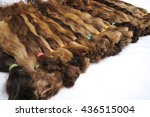 set of different hair for a wigs   Shutterstock . vector #436515004