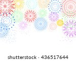 fireworks on white background | Shutterstock .eps vector #436517644