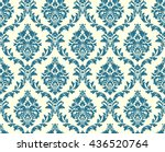 vector seamless floral damask... | Shutterstock .eps vector #436520764
