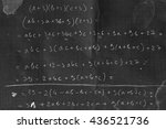 Small photo of Proving a simple polynomial identity on the blackboard