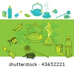 Every type of tea. Vector illustration of tea related items. - stock vector