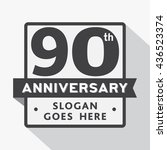 90th anniversary logo. vector... | Shutterstock .eps vector #436523374