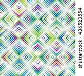 vector color pattern. geometric ... | Shutterstock .eps vector #436523554