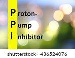 acronym ppi as proton pump... | Shutterstock . vector #436524076