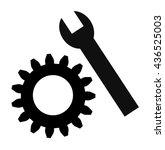 settings icon on white... | Shutterstock .eps vector #436525003