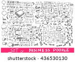 business doodles sketch vector... | Shutterstock .eps vector #436530130