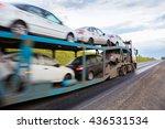 transportation of car on semi... | Shutterstock . vector #436531534