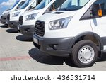 number of new white minibuses... | Shutterstock . vector #436531714