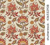 indian national paisley... | Shutterstock .eps vector #436532938