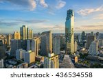 buildings landmark of sathorn... | Shutterstock . vector #436534558